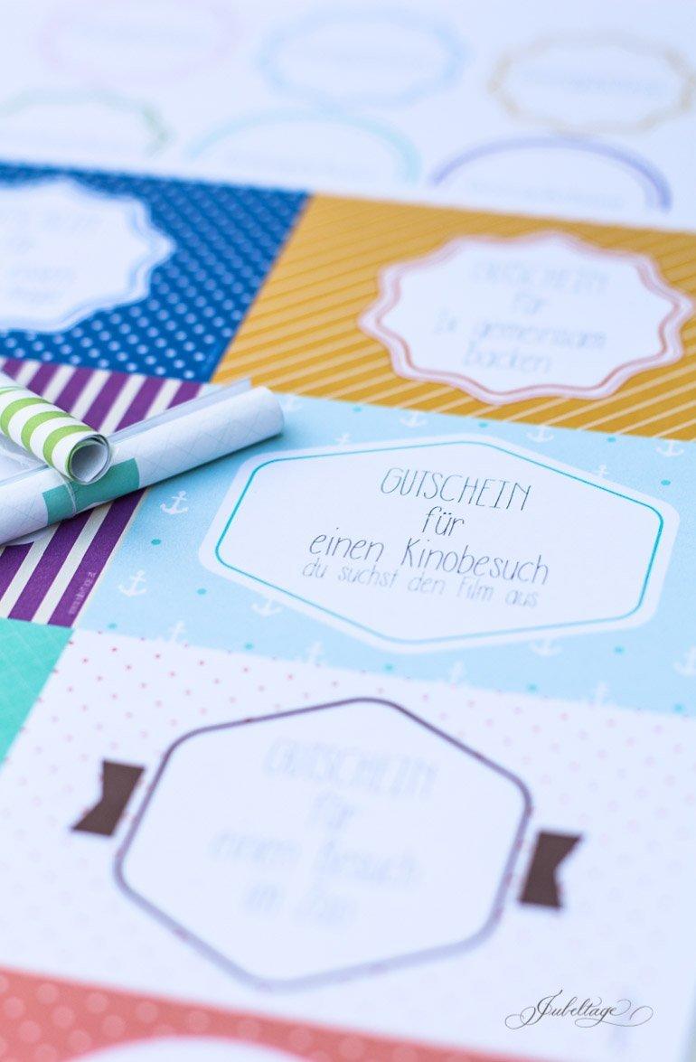 Zeit schenken zum Zeugnis: 24 Gutscheine für Kinder mit Druckvorlage zum Selbermachen für schöne Ferien