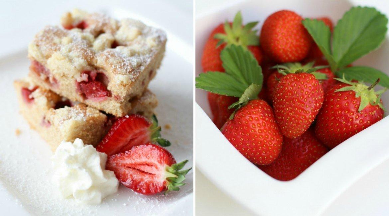 Rezept Erdbeer Crumple Kuchen