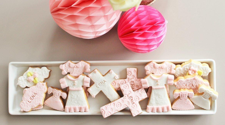 Kekse für den Sweet Table zur Taufe