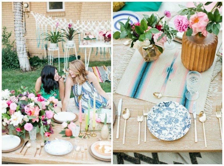 30. Geburtstag im Boho Stil mit vielen Ideen, Vintage Design, ausgefallener Dekoration und Essen