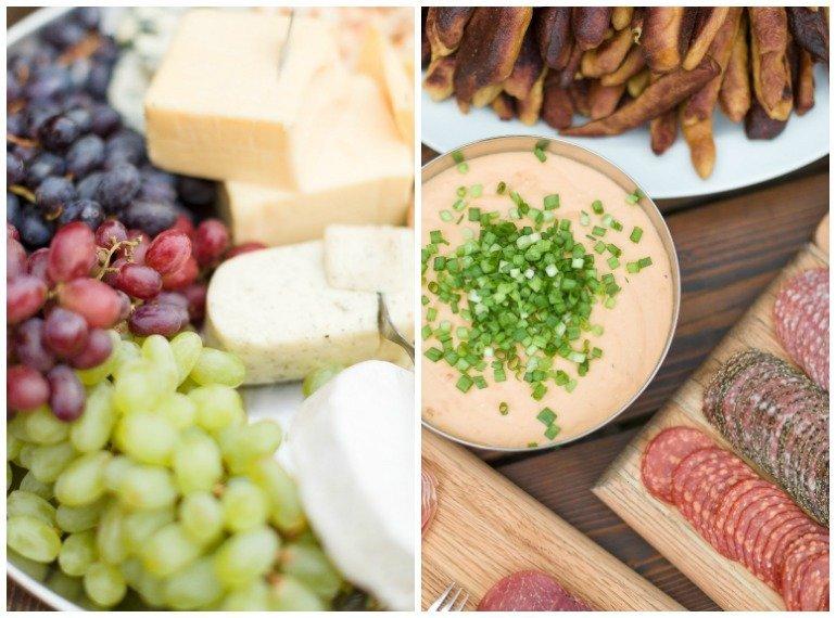Festliche Sommerparty zum Dinner im Garten mit stilvoller Dekoration, Ideen und mediterraner Küche