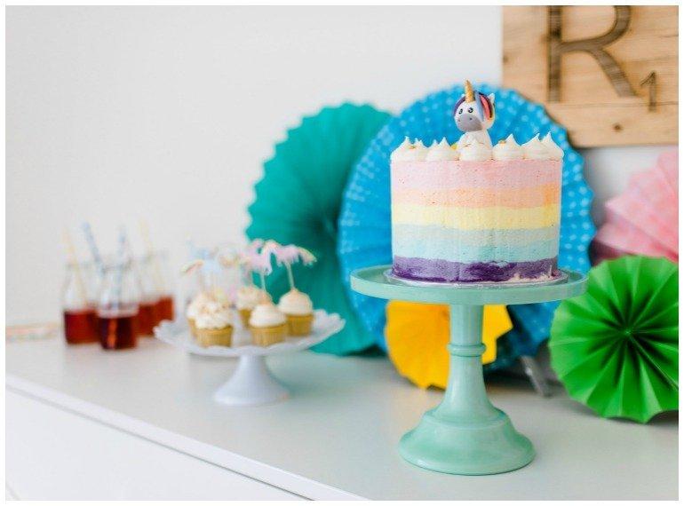 Torte für eine Einhornparty | Little Pony Party zum Geburtstag
