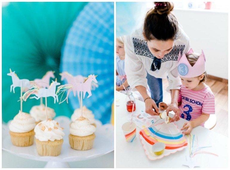Cupcakes für eine Einhornparty   Little Pony Party zum Geburtstag