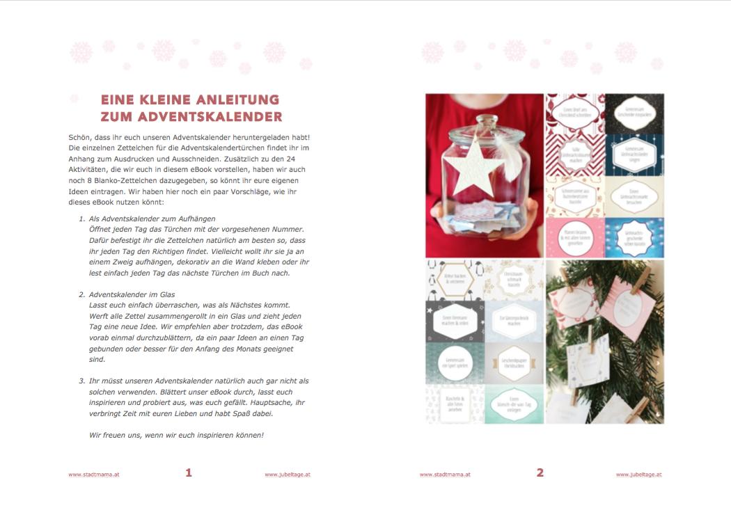eBook: Familienzeit - Ein Adventskalender mit 24 achtsamen Aktivitäten