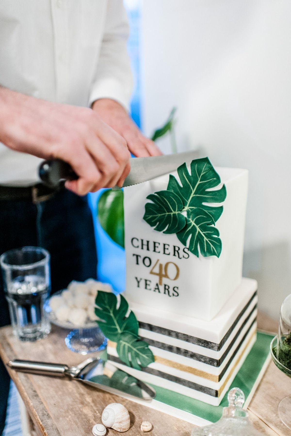 Botanical Greenery 40. Geburtstag Mann
