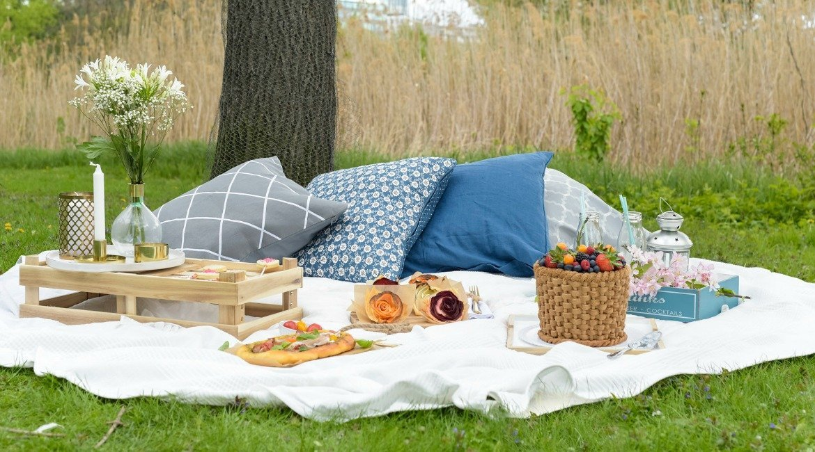 traumhaftes picknick mit leckeren snacks und fruchtigem. Black Bedroom Furniture Sets. Home Design Ideas