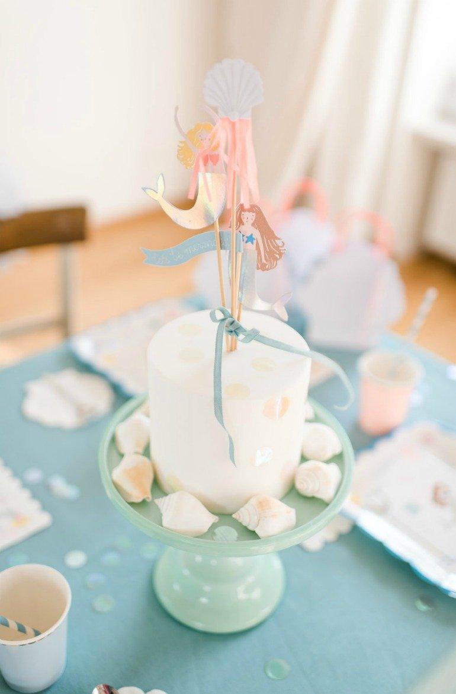 Schöne Ideen zur Dekoration und Rezepte für einen Meerjungfrauengeburtstag oder Meeresgeburtstag