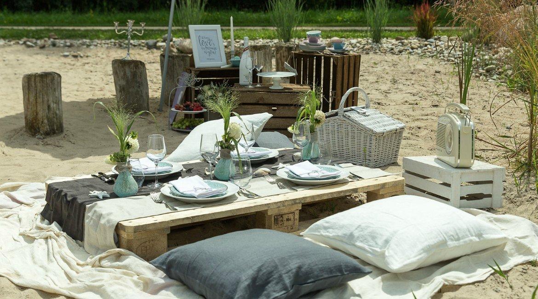 Leinenhochzeit: Strandpicknick zum 12. Hochzeitstag