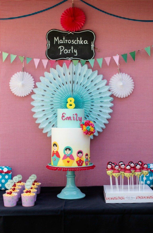 Matroschka Kindergeburstag mit toller Deko, kreativen DIY Ideen und Party Spielen