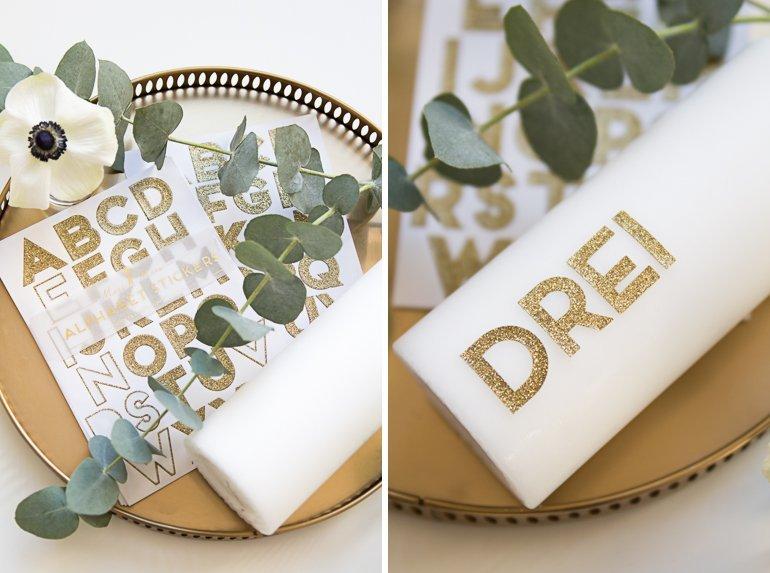 DIY Moderner Adventskranz ohne Tannengrün