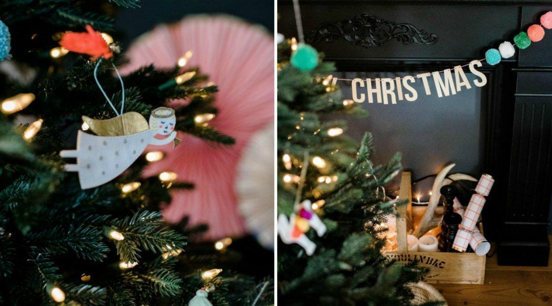 Weihnachsdeko mit klassischen Motiven kombiniert mit modernen Design