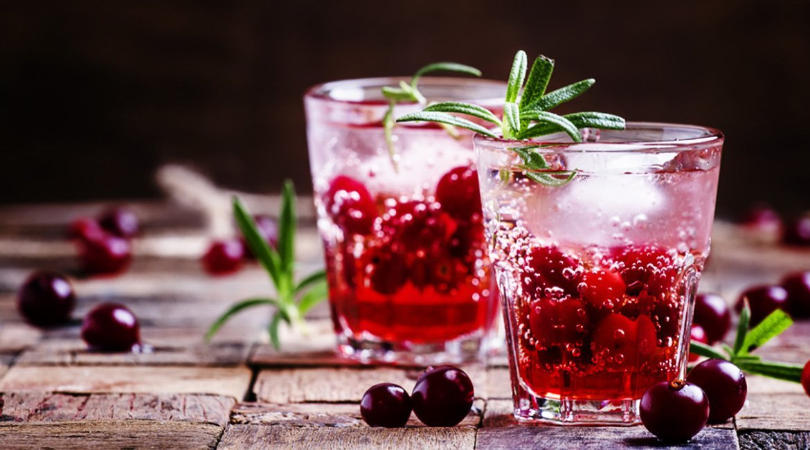 Cranberry Cocktail Drink Silvester Winter