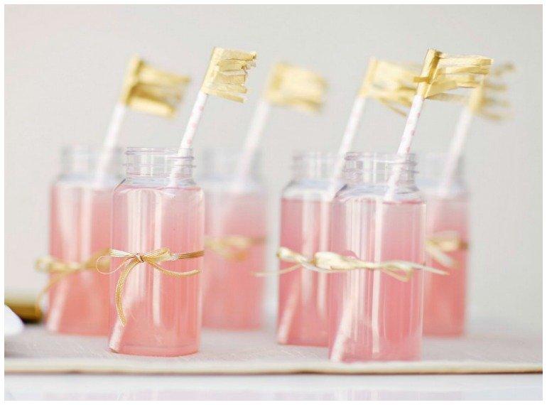 Silvester Dekoideen in Rosa und Gold mit leckeren Rezepten