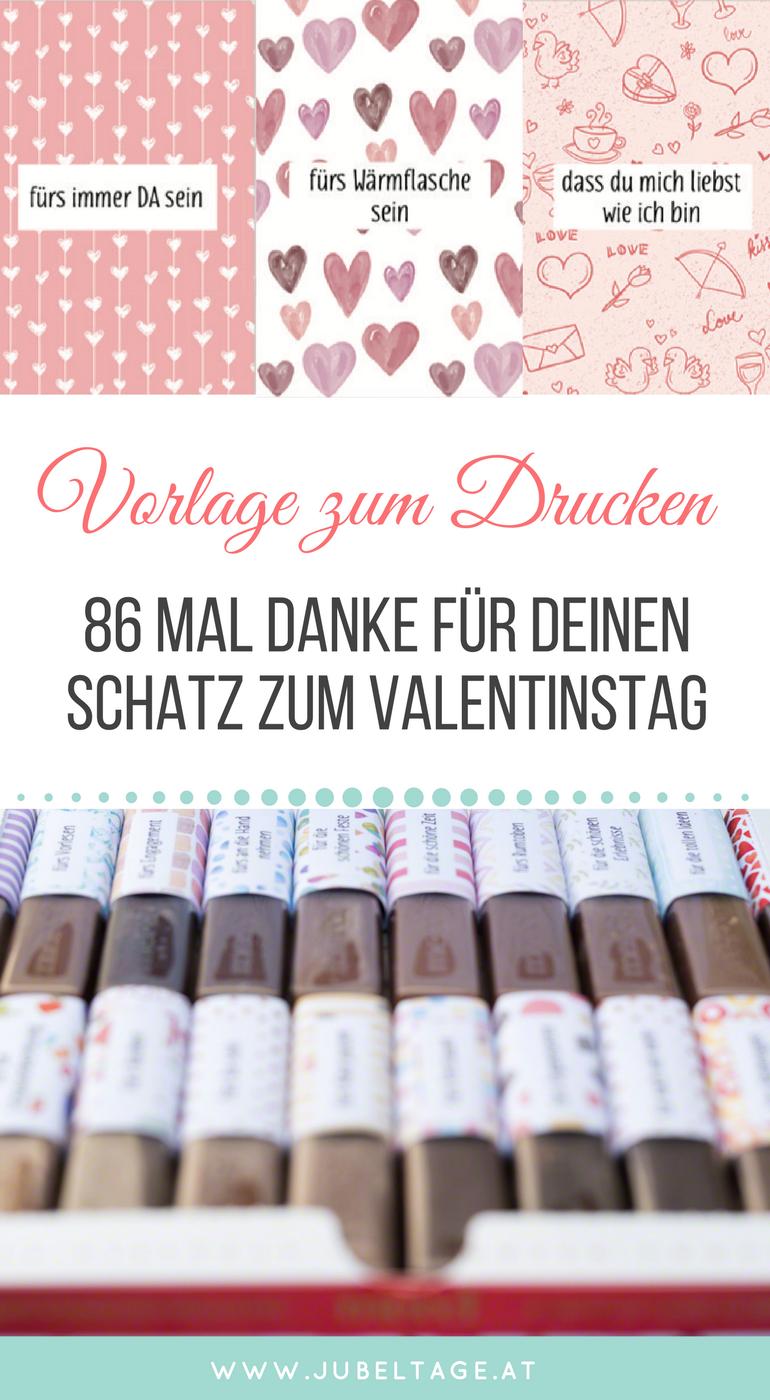 Merci Druckvorlage Zum Valentinstag 86 Mal Danke Fur Deinen Schatz