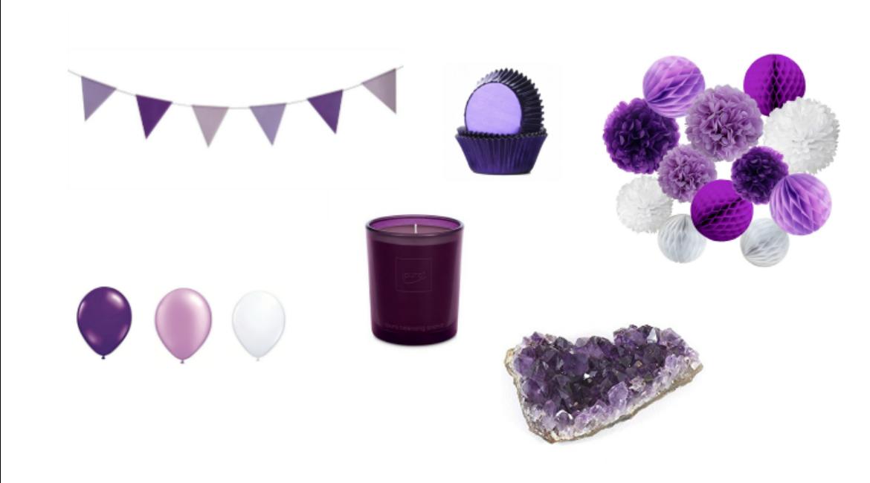 Deko und Accessoires in der Farbe Ultra Violett