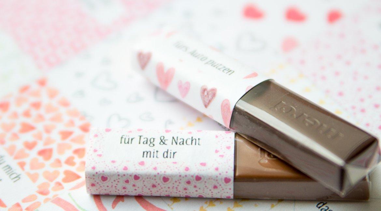 Merci Druckvorlage als Geschenk zum Valentinstag