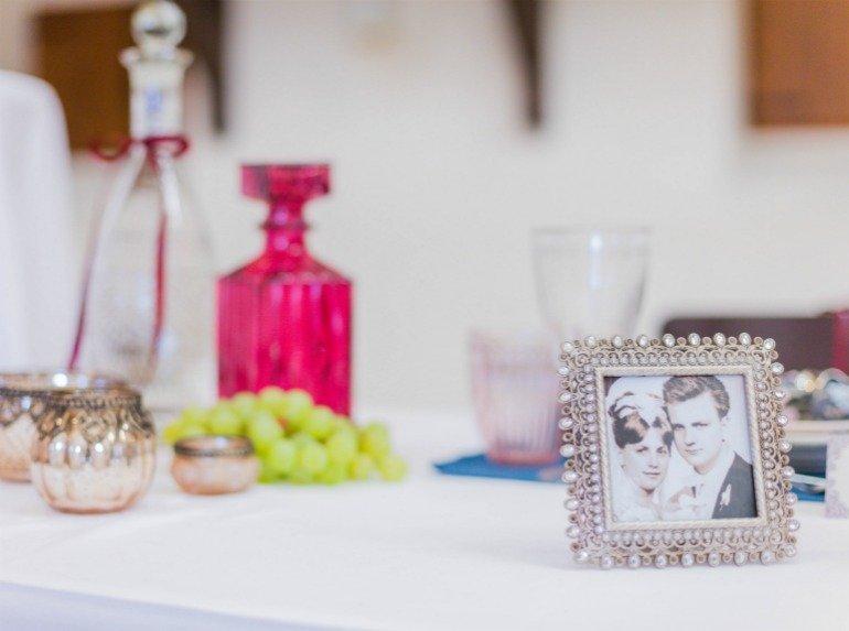 Goldene Hochzeit mit traumhafter Deko im stilvollen Ambiente am Weinberg