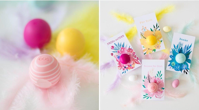 eos Lippenpflege als Geschenk mit kostenloser Druckvorlage