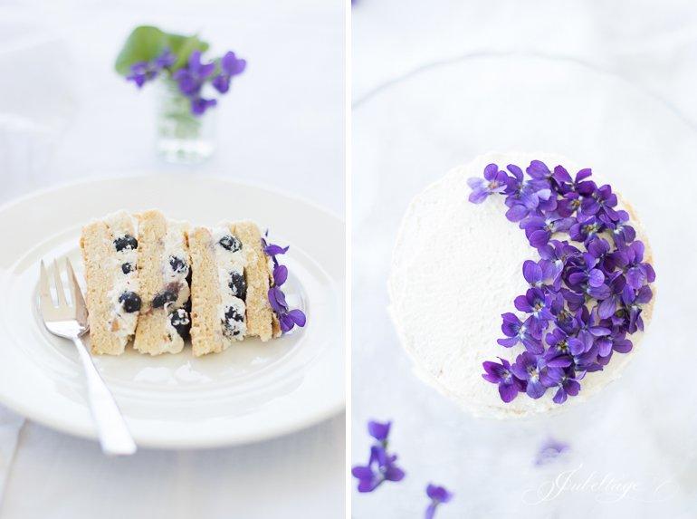 30 Minuten Torte mit essbaren Blüten & Veilchen