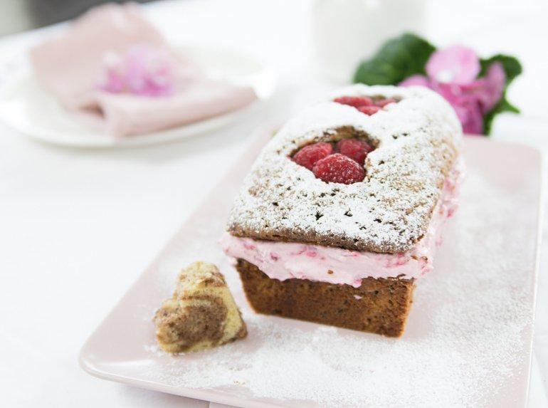 Leckere Überraschung ohne Backen: Marmor Kuchen mit cremigen ...