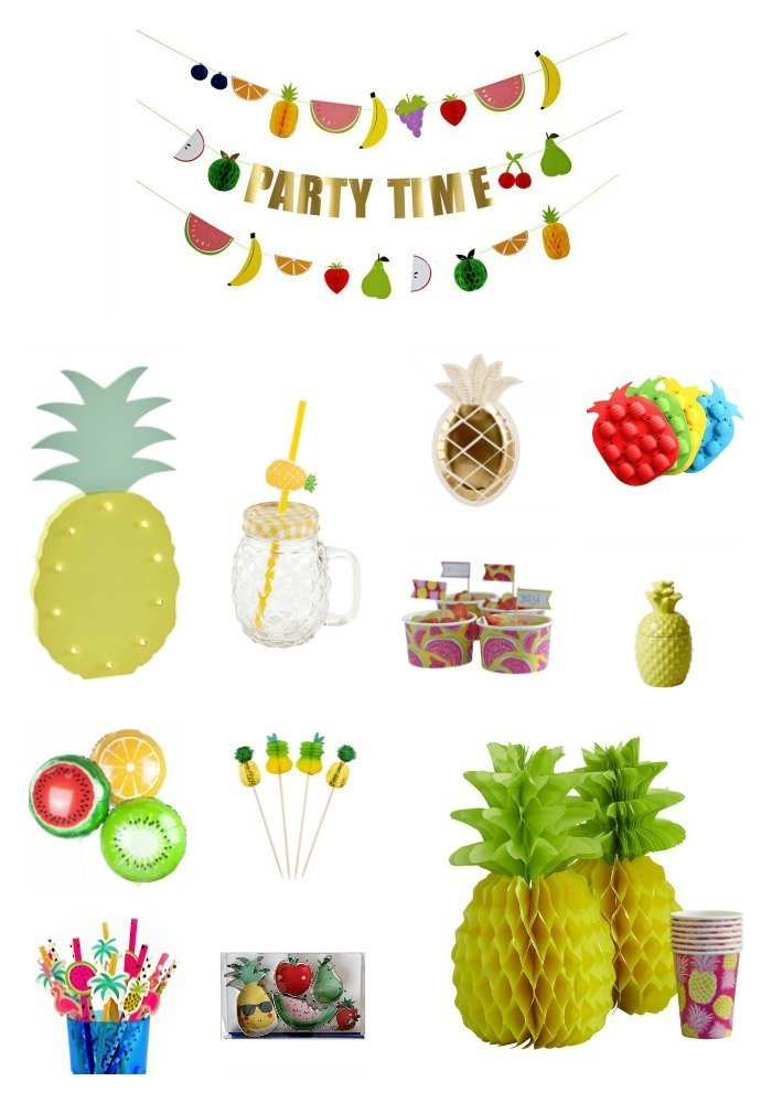 Tutti Frutti Party und Sommer Party Dekoration, Ideen und DIY
