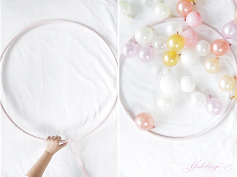 DIY Anleitung Hula Hoop Ballon Girlande