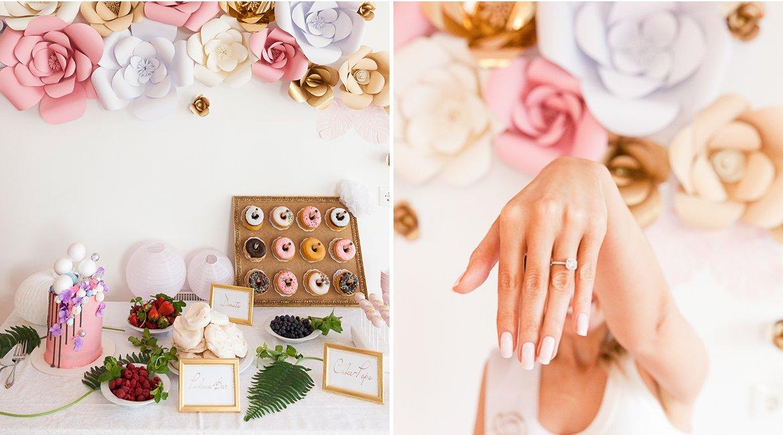 Bridal Shower Polterabend mit Donut Wall