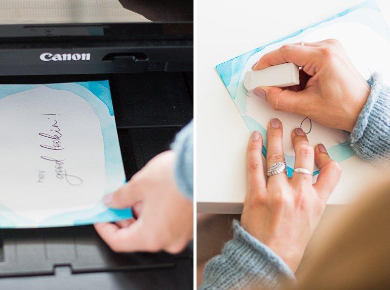 DIY Watercolour Einladungen, Tischkarten u.a. Papeterie selbst gestalten