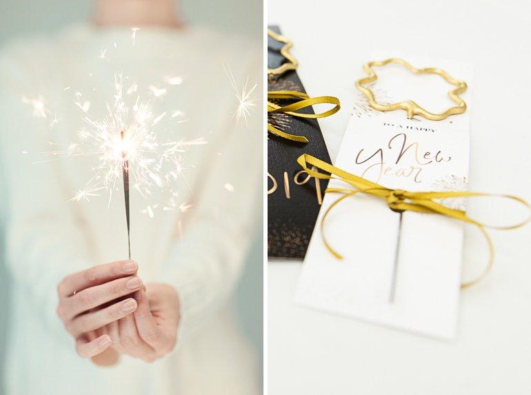 Druckvorlage für Wunderkerzen als Geschenk für Silvester