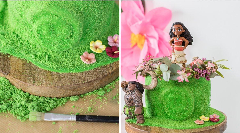 Herz von Te Fiti Torte für eine Vaiana / Moana Party backen