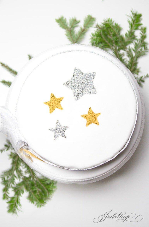 Orangen-Sterne-Torte Rezeptidee für Weihnachten