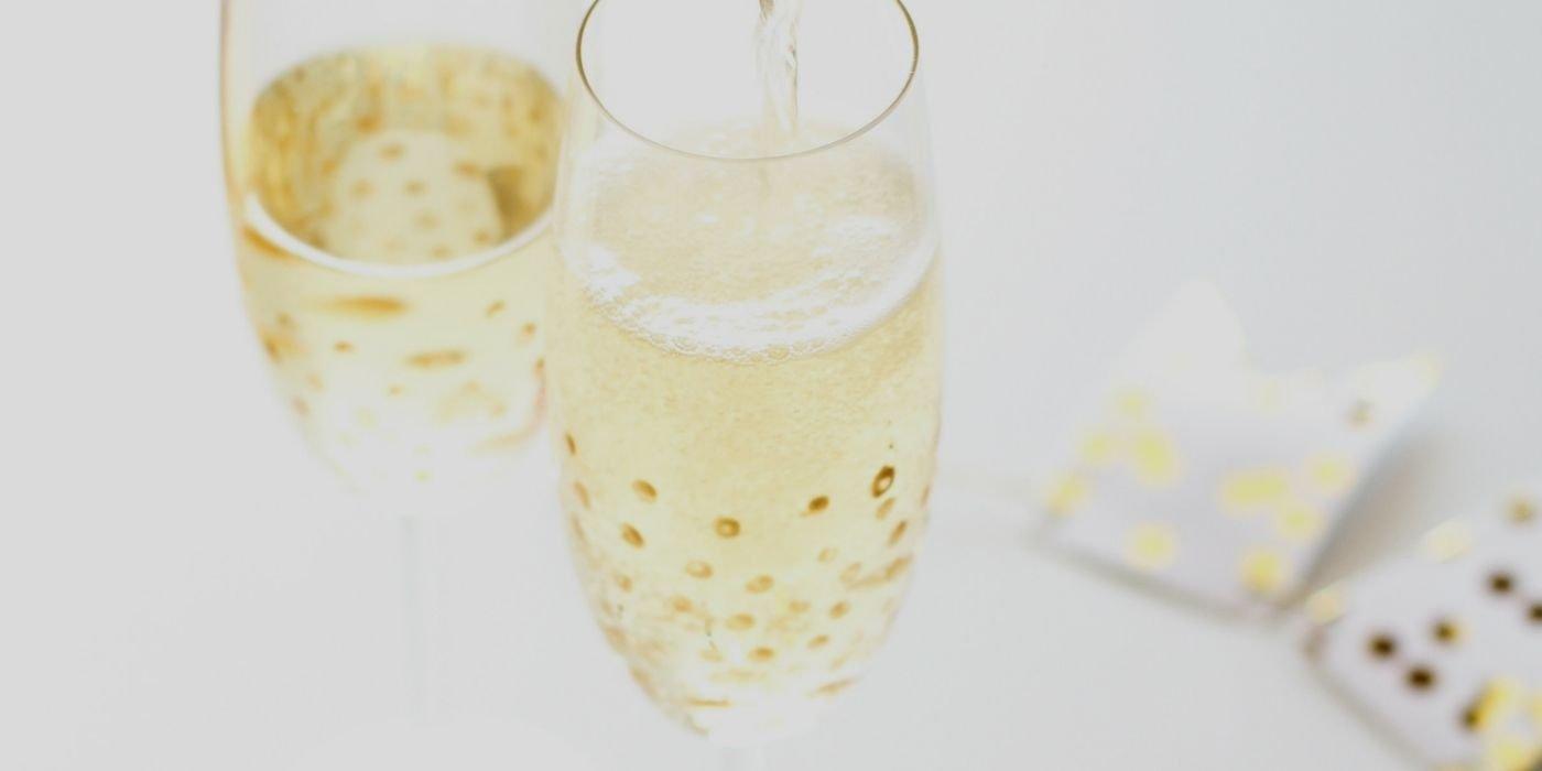 DIY Sektglaser Silvester Party