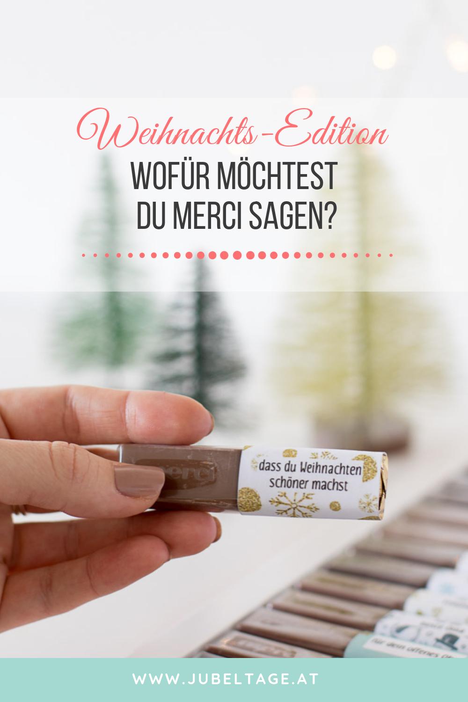Danke sagen an Weihnachten mit MERCI Druckvorlagen als einfache DIY Idee