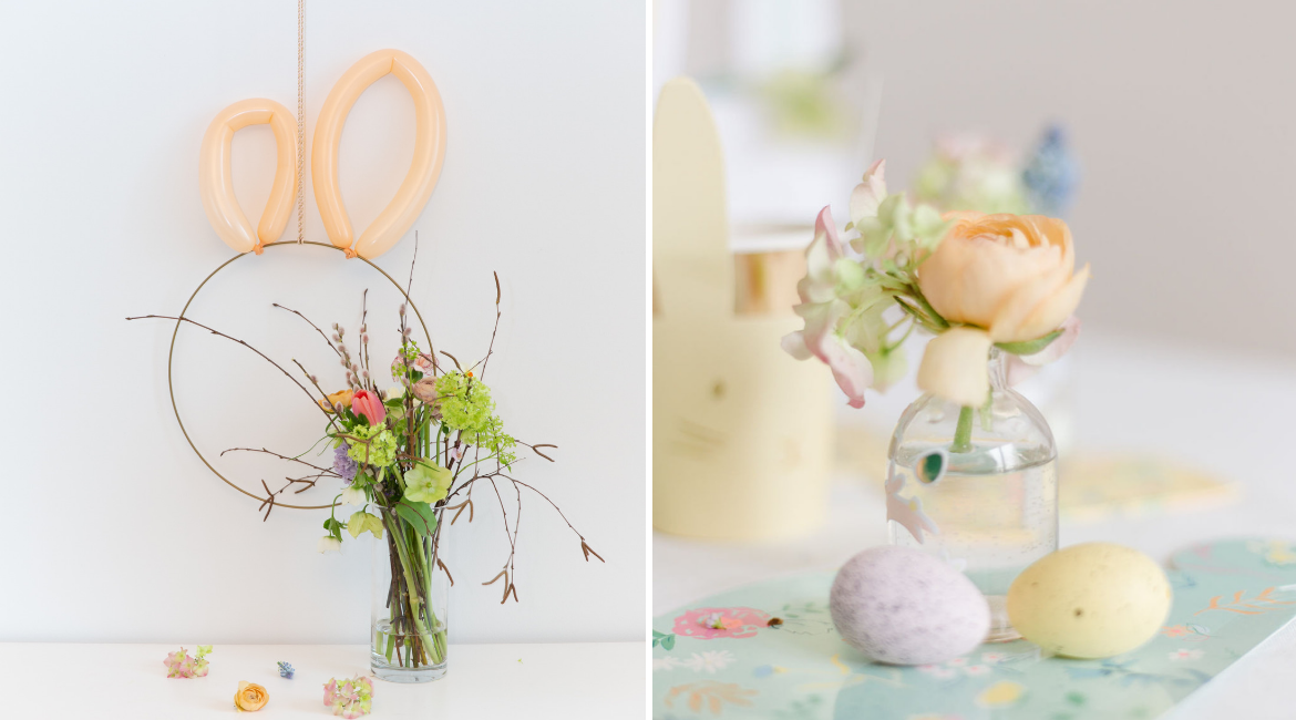 DIY Osterhasen Wanddekoration für Sweet Table oder Brunch