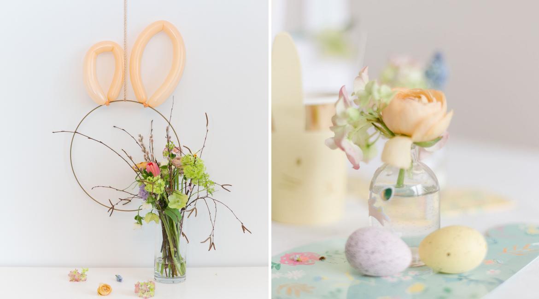 DIY Osterhasen Wanddekoration für Sweet Table oder Brunch