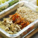 Süßkartoffel-Tofu-Fenchel Gemüse mit Naturreis