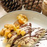 Veganes Weihnachtsdessert: Palatschinken gefüllt mit Dattel-Zimt-Creme